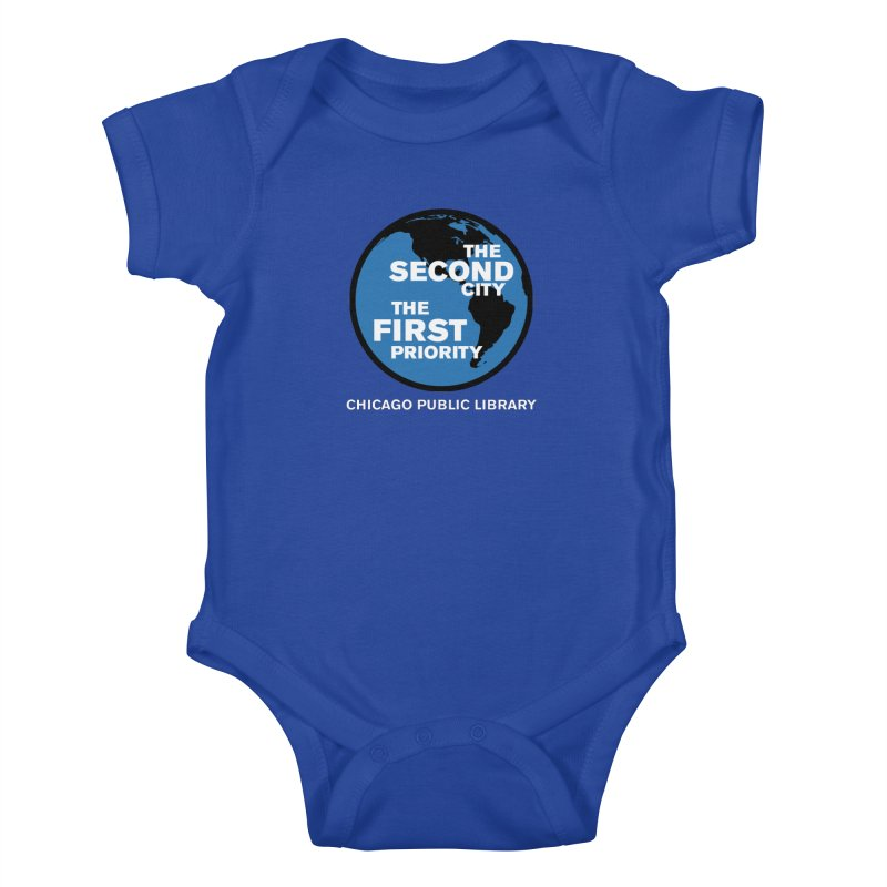 One Book, One Chicago 2019 Second City White Text Kids Baby Bodysuit by Chicago Public Library Artist Shop
