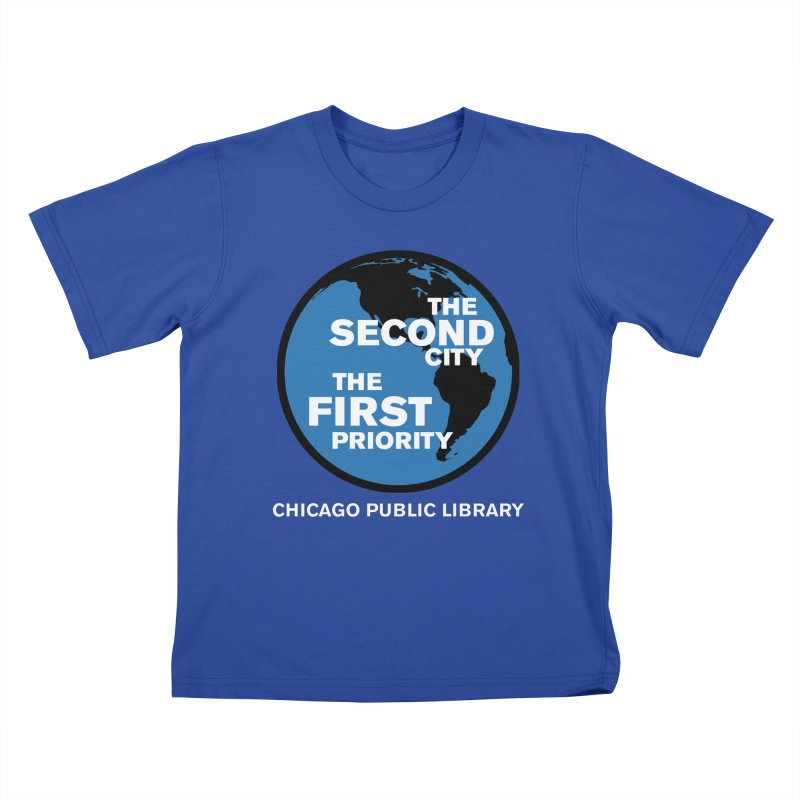 One Book, One Chicago 2019 Second City White Text Kids T-Shirt by Chicago Public Library Artist Shop