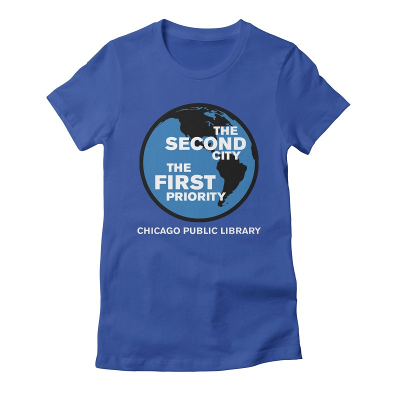 One Book, One Chicago 2019 Second City White Text Women's Fitted T-Shirt by Chicago Public Library Artist Shop