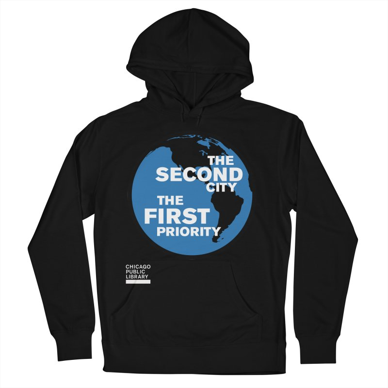 One Book, One Chicago 2019 Second City White Women's French Terry Pullover Hoody by Chicago Public Library Artist Shop