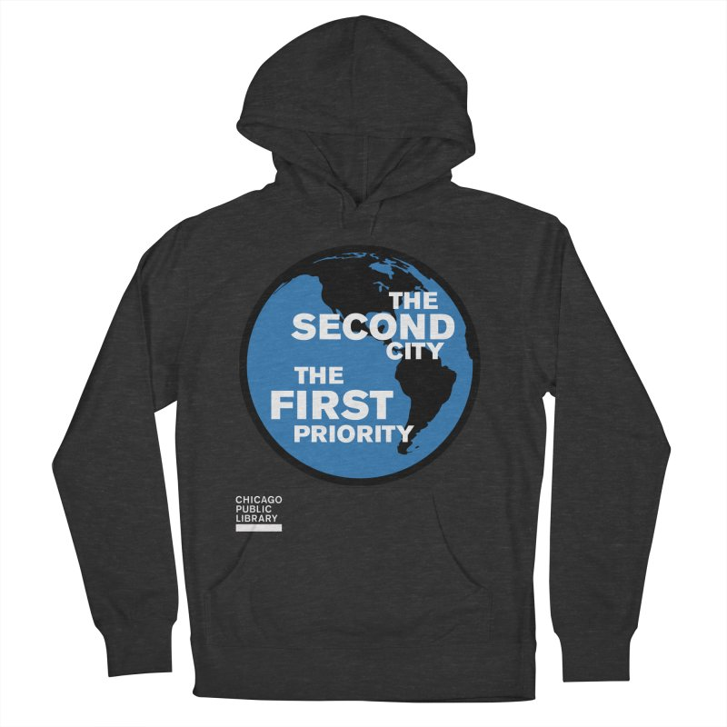 One Book, One Chicago 2019 Second City White Men's French Terry Pullover Hoody by Chicago Public Library Artist Shop