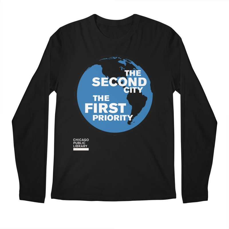 One Book, One Chicago 2019 Second City White Men's Regular Longsleeve T-Shirt by Chicago Public Library Artist Shop