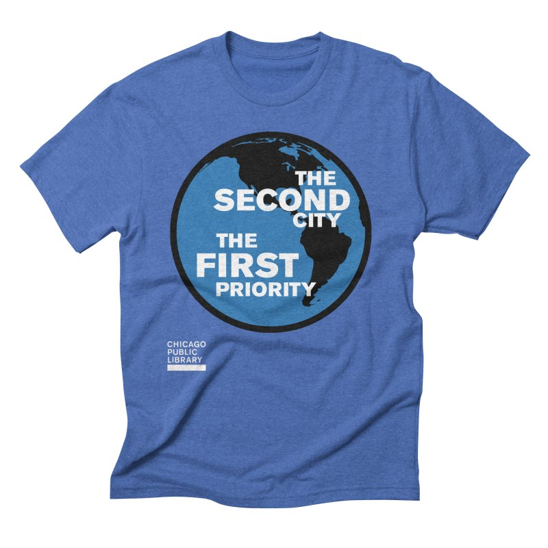 One Book, One Chicago 2019 Second City White Men's Triblend T-Shirt by Chicago Public Library Artist Shop