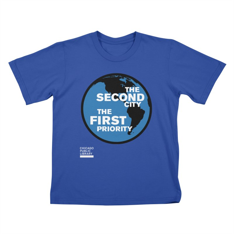 One Book, One Chicago 2019 Second City White Kids T-Shirt by Chicago Public Library Artist Shop