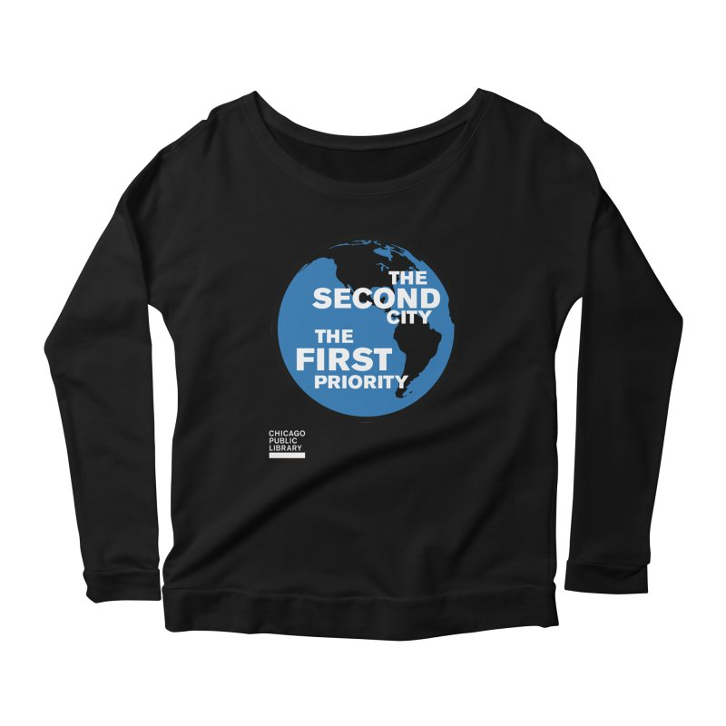 One Book, One Chicago 2019 Second City White Women's Scoop Neck Longsleeve T-Shirt by Chicago Public Library Artist Shop