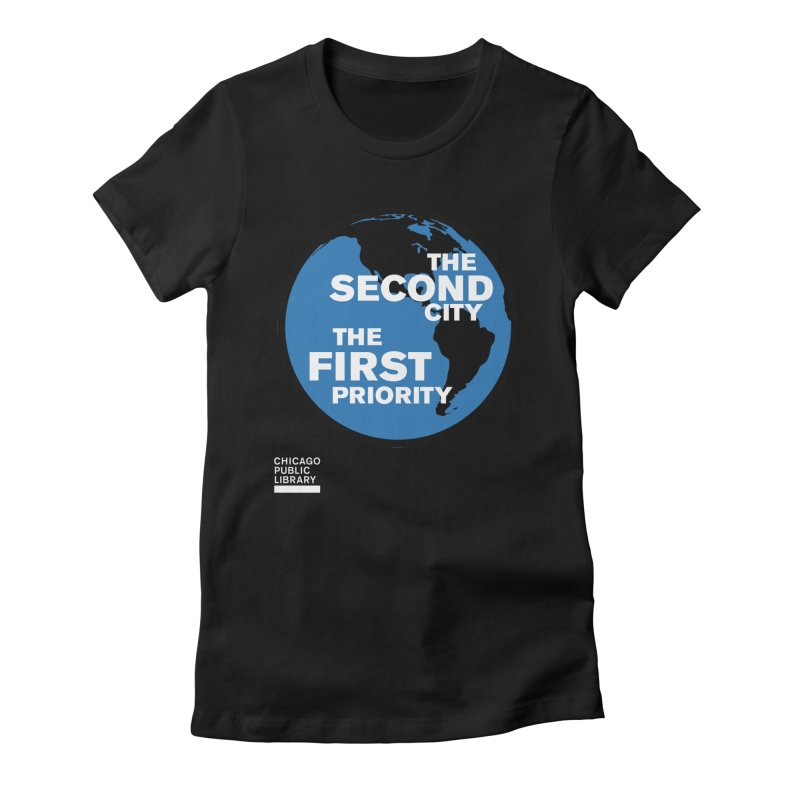 One Book, One Chicago 2019 Second City White Women's Fitted T-Shirt by Chicago Public Library Artist Shop