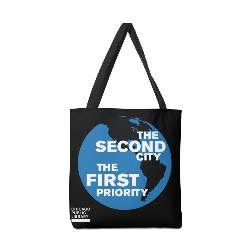One Book, One Chicago 2019 Second City White Accessories Tote Bag Bag by Chicago Public Library Artist Shop
