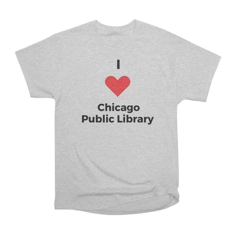 I Love CPL Men's T-Shirt by Chicago Public Library Artist Shop