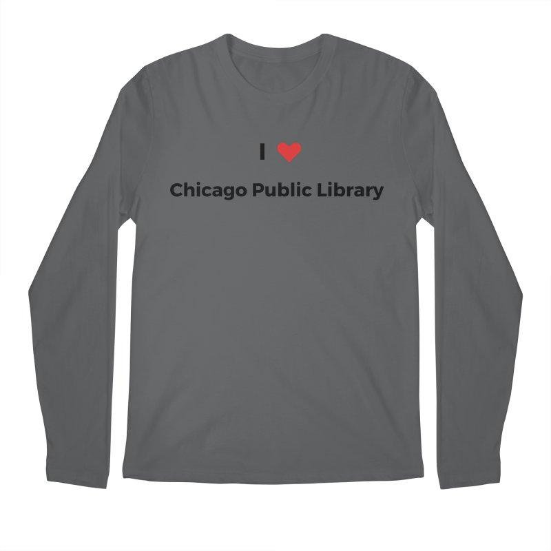 I (heart) Chicago Public Library Men's Longsleeve T-Shirt by Chicago Public Library Artist Shop