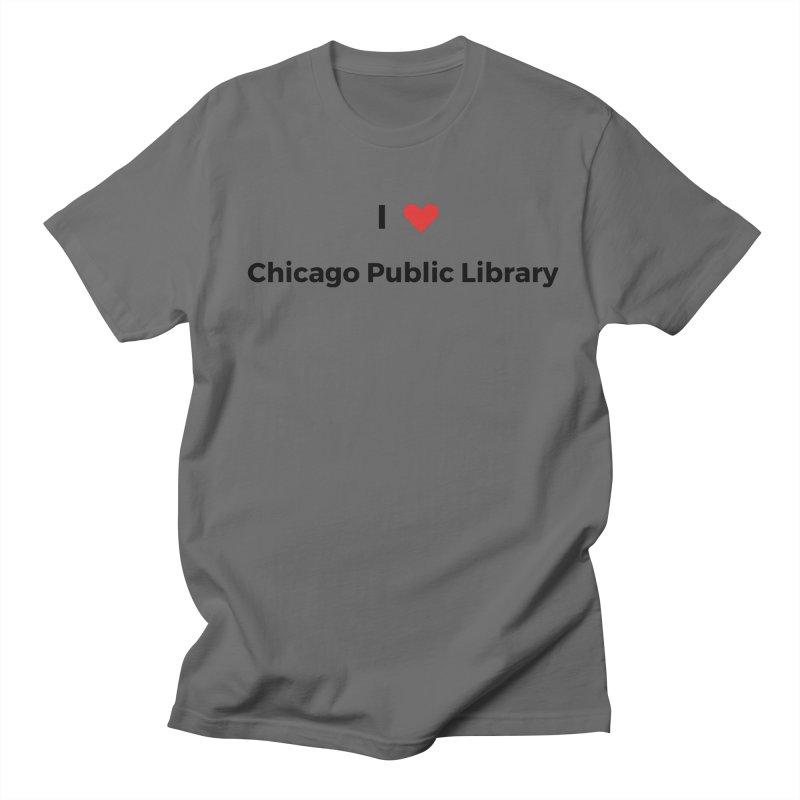 I (heart) Chicago Public Library Men's T-Shirt by Chicago Public Library Artist Shop