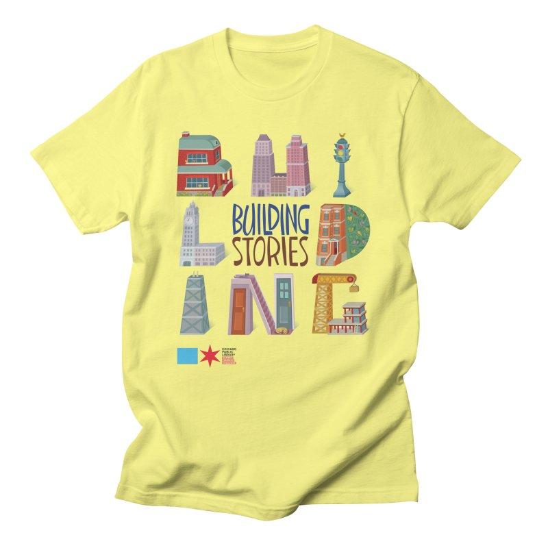 Summer 2020 Building Stories Letter Structures Men's T-Shirt by Chicago Public Library Artist Shop