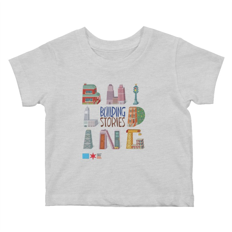 Summer 2020 Building Stories Letter Structures Kids Baby T-Shirt by Chicago Public Library Artist Shop