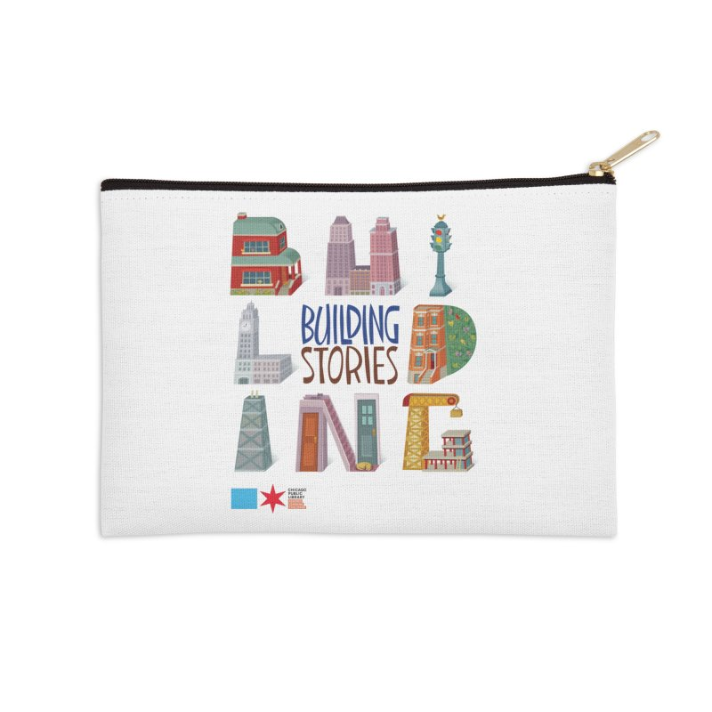 Summer 2020 Building Stories Letter Structures Accessories Zip Pouch by Chicago Public Library Artist Shop
