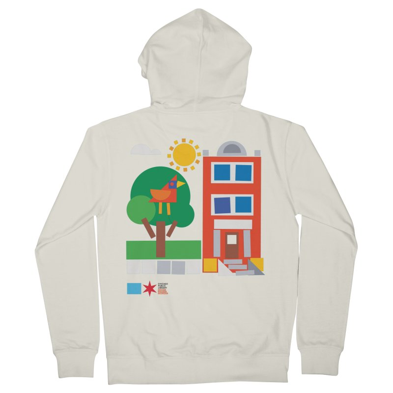 Summer 2020 Early Learning Bird & Apartment Women's Zip-Up Hoody by Chicago Public Library Artist Shop