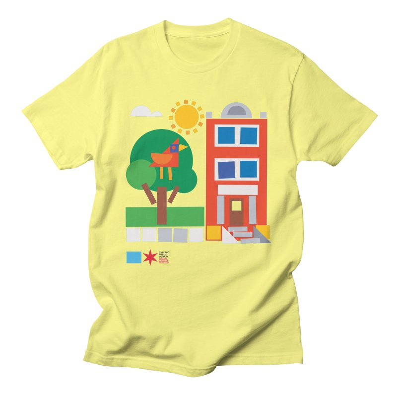 Summer 2020 Early Learning Bird & Apartment Men's T-Shirt by Chicago Public Library Artist Shop