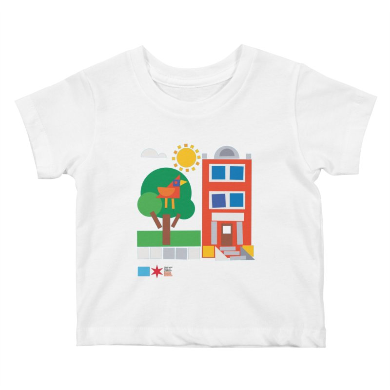 Summer 2020 Early Learning Bird & Apartment Kids Baby T-Shirt by Chicago Public Library Artist Shop
