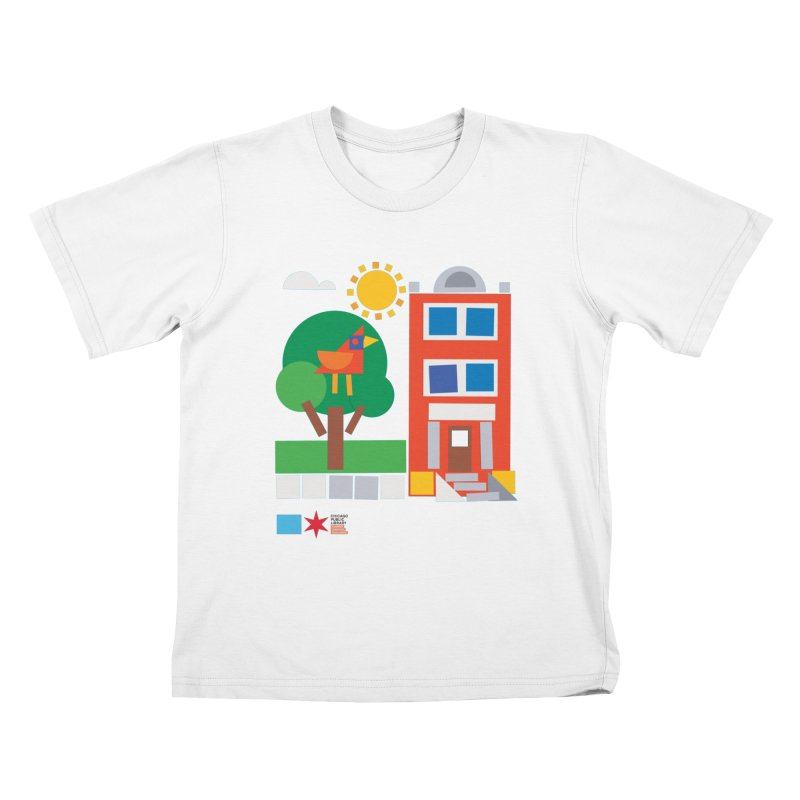 Summer 2020 Early Learning Bird & Apartment Kids T-Shirt by Chicago Public Library Artist Shop