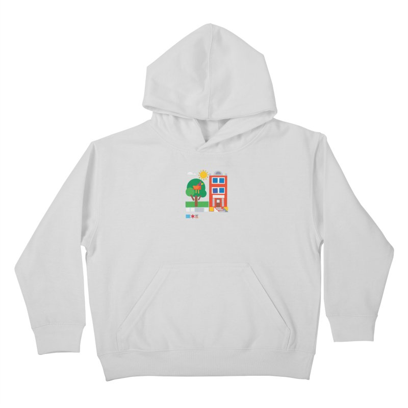Summer 2020 Early Learning Bird & Apartment Kids Pullover Hoody by Chicago Public Library Artist Shop