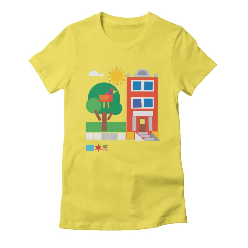 Summer 2020 Early Learning Bird & Apartment Women's T-Shirt by Chicago Public Library Artist Shop
