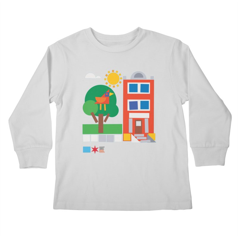 Summer 2020 Early Learning Bird & Apartment Kids Longsleeve T-Shirt by Chicago Public Library Artist Shop