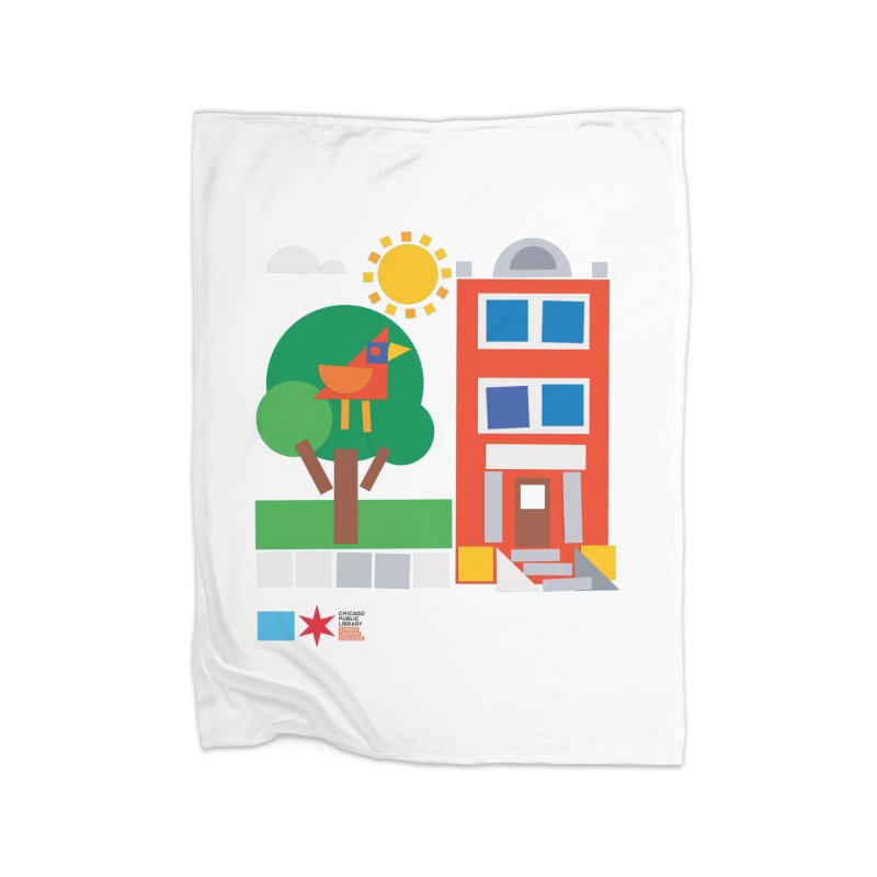 Summer 2020 Early Learning Bird & Apartment Home Blanket by Chicago Public Library Artist Shop