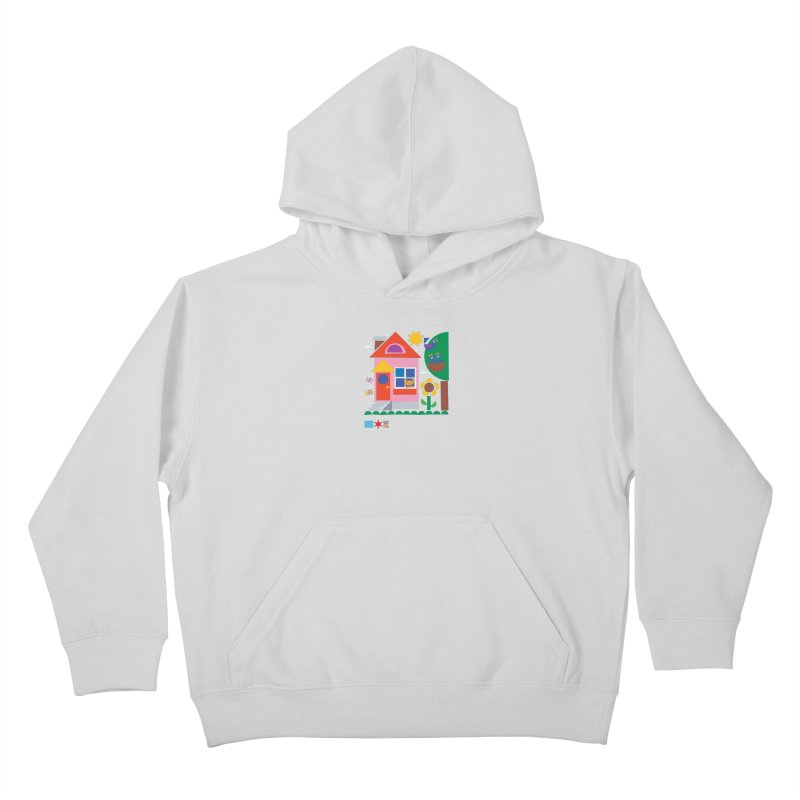 Summer 2020 Early Learning Cat & Birds Kids Pullover Hoody by Chicago Public Library Artist Shop