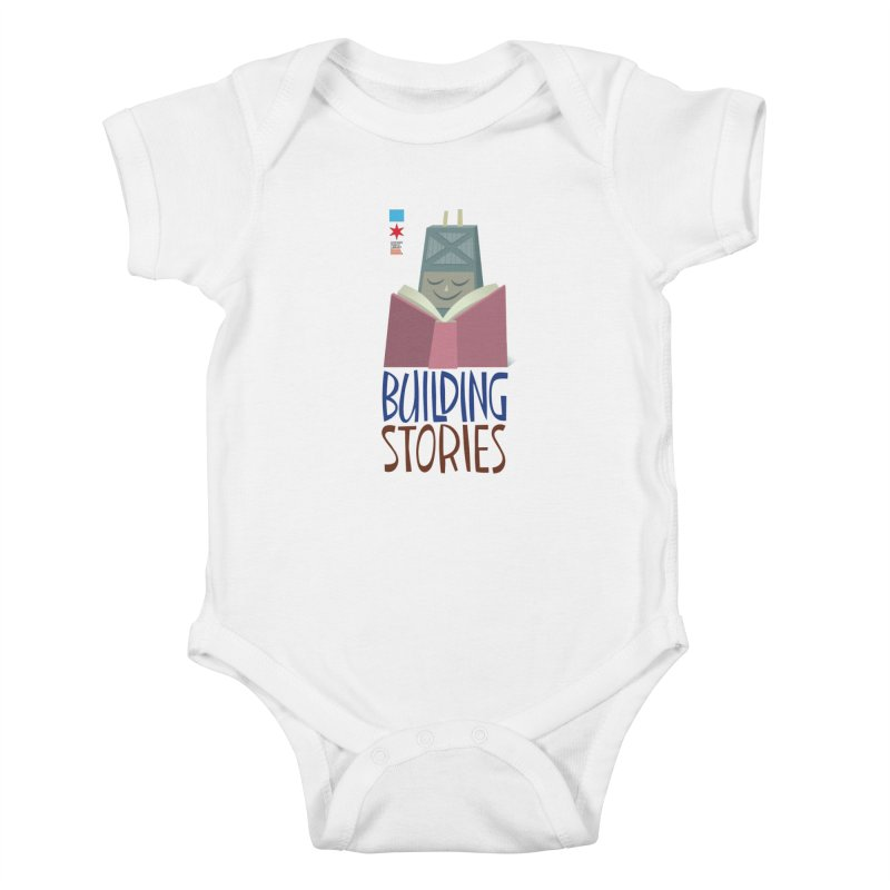 Summer 2020 Hancock Building Stories Kids Baby Bodysuit by Chicago Public Library Artist Shop