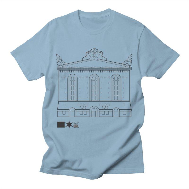 Summer 2020 Harold Washington Library Line Art Men's T-Shirt by Chicago Public Library Artist Shop