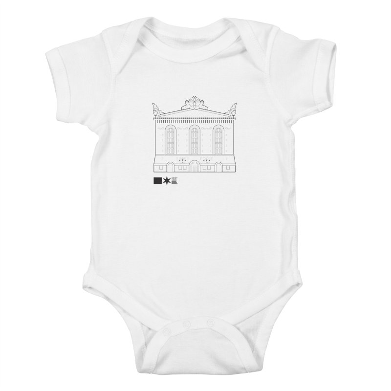 Summer 2020 Harold Washington Library Line Art Kids Baby Bodysuit by Chicago Public Library Artist Shop