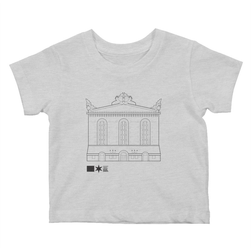 Summer 2020 Harold Washington Library Line Art Kids Baby T-Shirt by Chicago Public Library Artist Shop