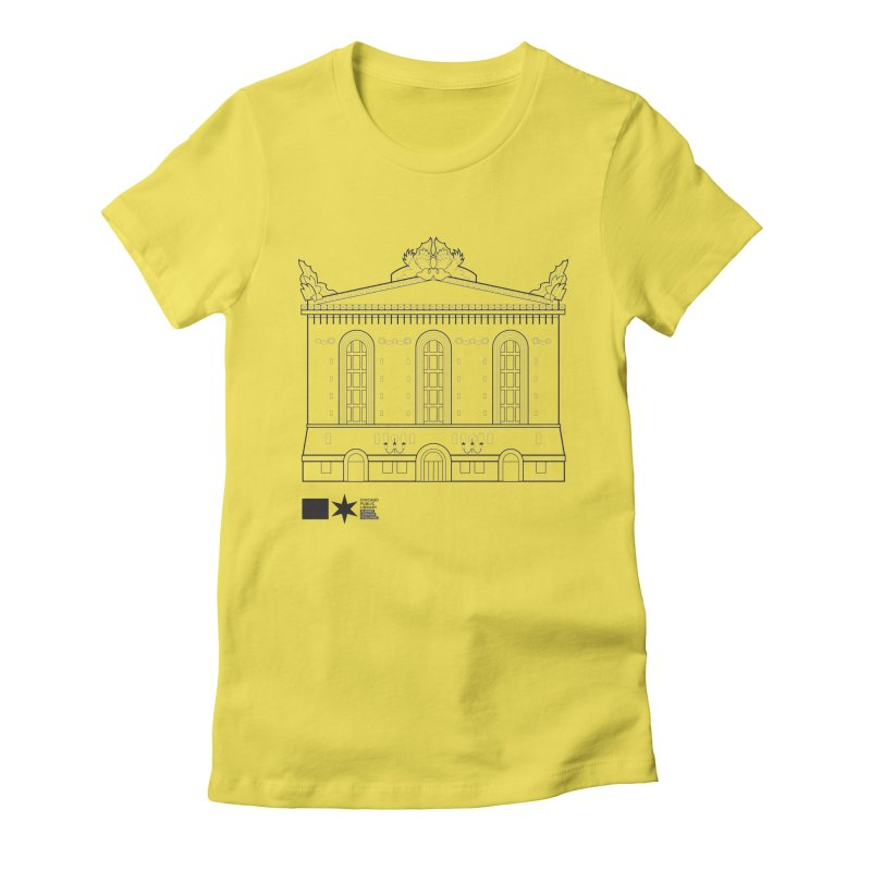 Summer 2020 Harold Washington Library Line Art Women's T-Shirt by Chicago Public Library Artist Shop