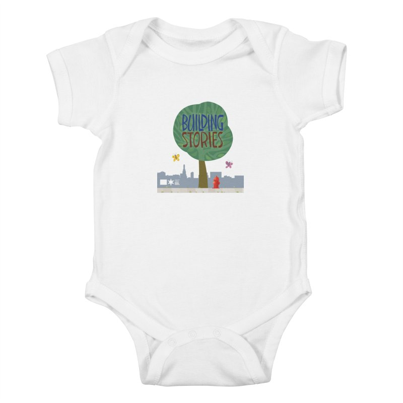 Summer 2020 Building Stories Tree & Fauna Kids Baby Bodysuit by Chicago Public Library Artist Shop