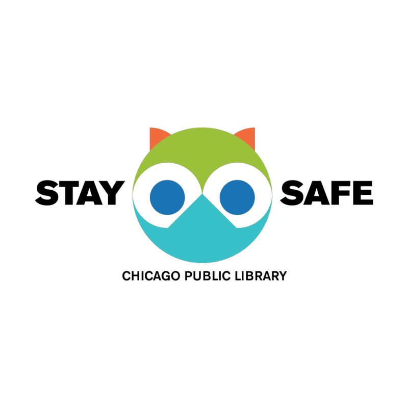 Stay Safe Owl Mask Accessories Face Mask by Chicago Public Library Artist Shop
