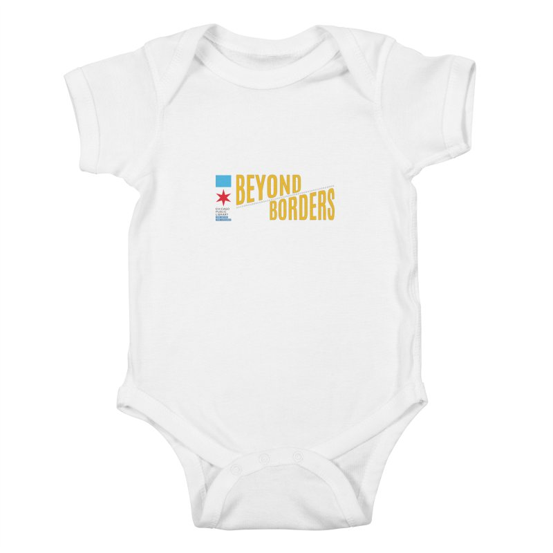 One Book, One Chicago 2020 Beyond Borders Theme Kids Baby Bodysuit by Chicago Public Library Artist Shop
