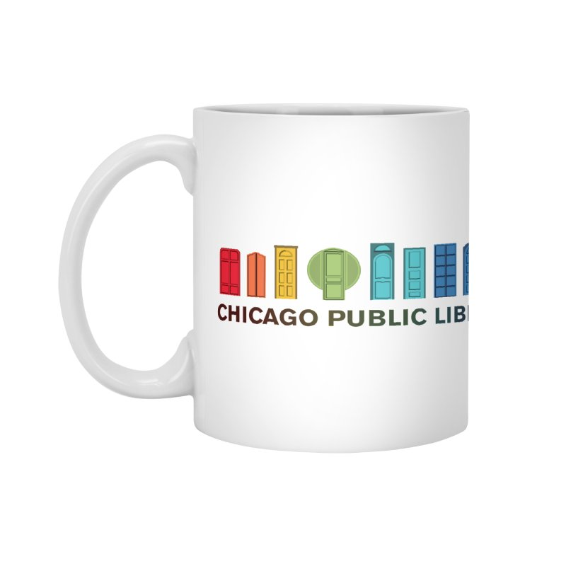 One Book, One Chicago 2020 Beyond Borders Rainbow Doors Accessories Mug by Chicago Public Library Artist Shop