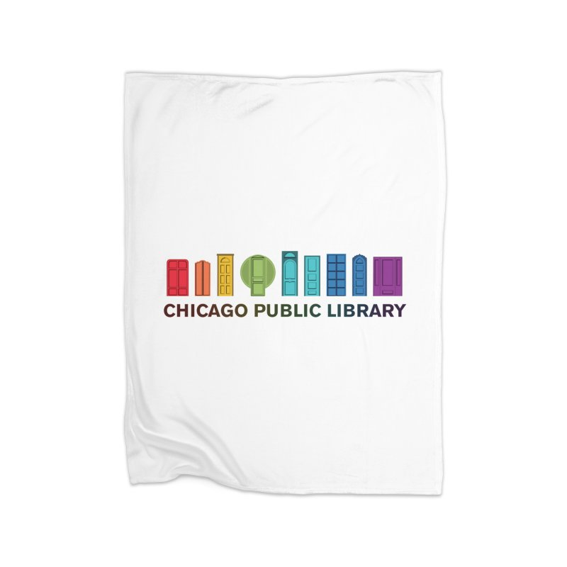 One Book, One Chicago 2020 Beyond Borders Rainbow Doors Home Blanket by Chicago Public Library Artist Shop