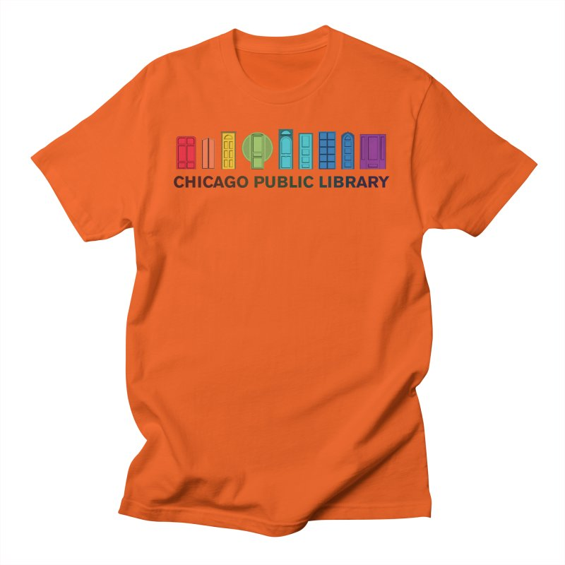 One Book, One Chicago 2020 Beyond Borders Rainbow Doors Men's T-Shirt by Chicago Public Library Artist Shop