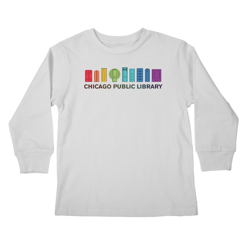 One Book, One Chicago 2020 Beyond Borders Rainbow Doors Kids Longsleeve T-Shirt by Chicago Public Library Artist Shop