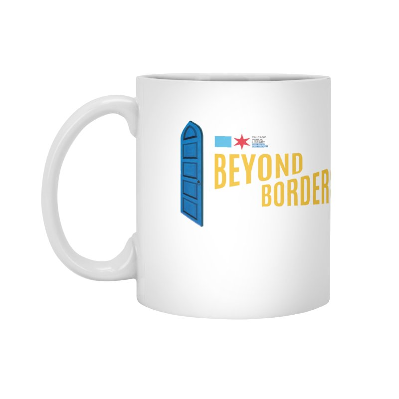 One Book, One Chicago 2020 Beyond Borders Door Accessories Mug by Chicago Public Library Artist Shop