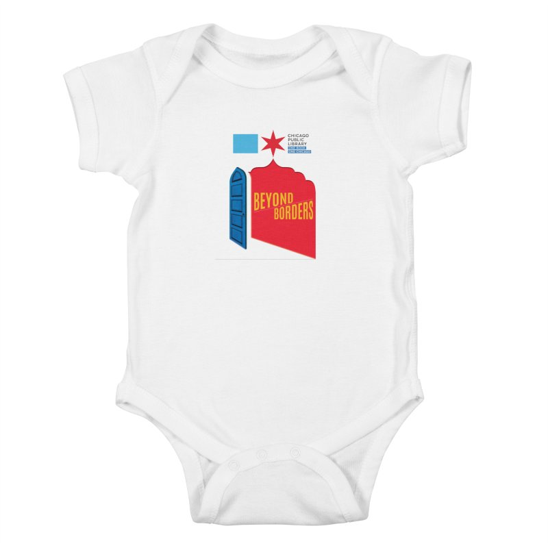 One Book, One Chicago 2020 Beyond Borders Door and Background Kids Baby Bodysuit by Chicago Public Library Artist Shop
