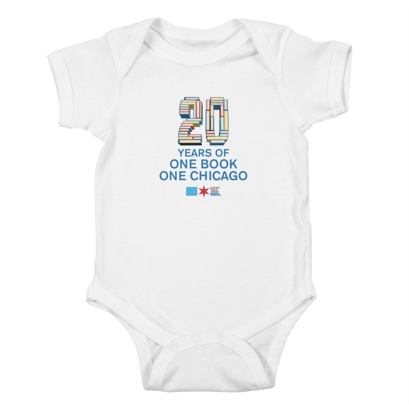 One Book, One Chicago 20th Anniversary 3D stacked Kids Baby Bodysuit by Chicago Public Library Artist Shop