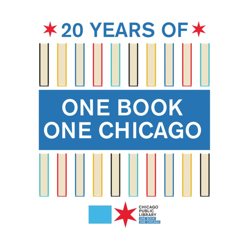 One Book, One Chicago 20th Anniversary Double Row Books Accessories Mug by Chicago Public Library Artist Shop