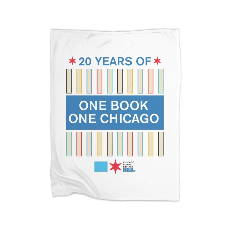 One Book, One Chicago 20th Anniversary Double Row Books Home Blanket by Chicago Public Library Artist Shop