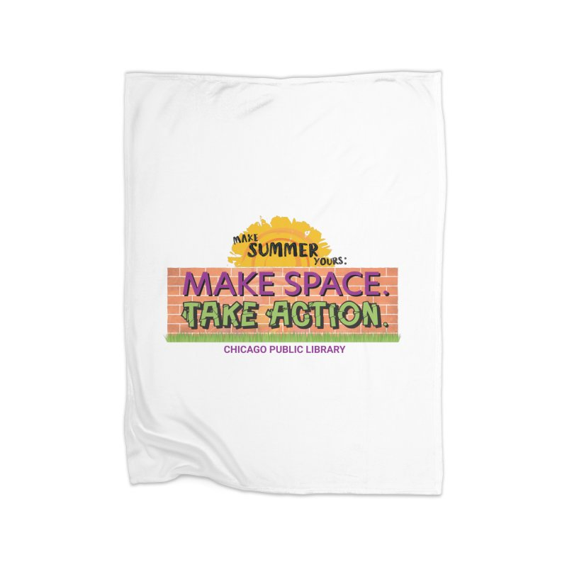 Summer 2021 - Make Space, Take Action Home Blanket by Chicago Public Library Artist Shop