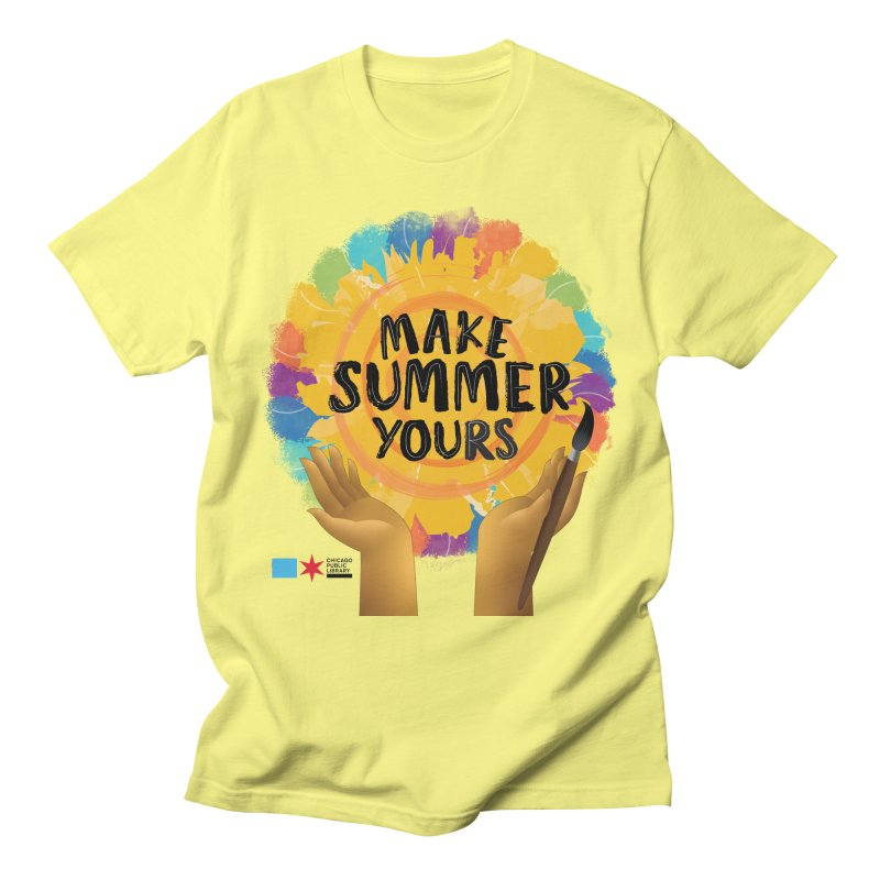 Summer 2021 - Make Summer Yours Rainbow Men's T-Shirt by Chicago Public Library Artist Shop
