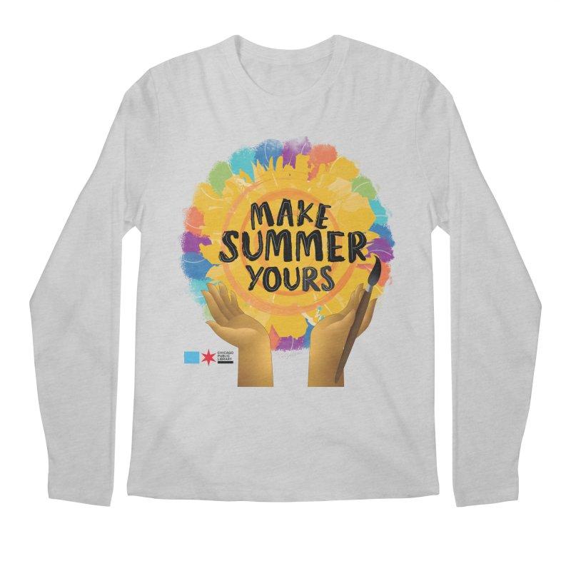 Summer 2021 - Make Summer Yours Rainbow Men's Longsleeve T-Shirt by Chicago Public Library Artist Shop