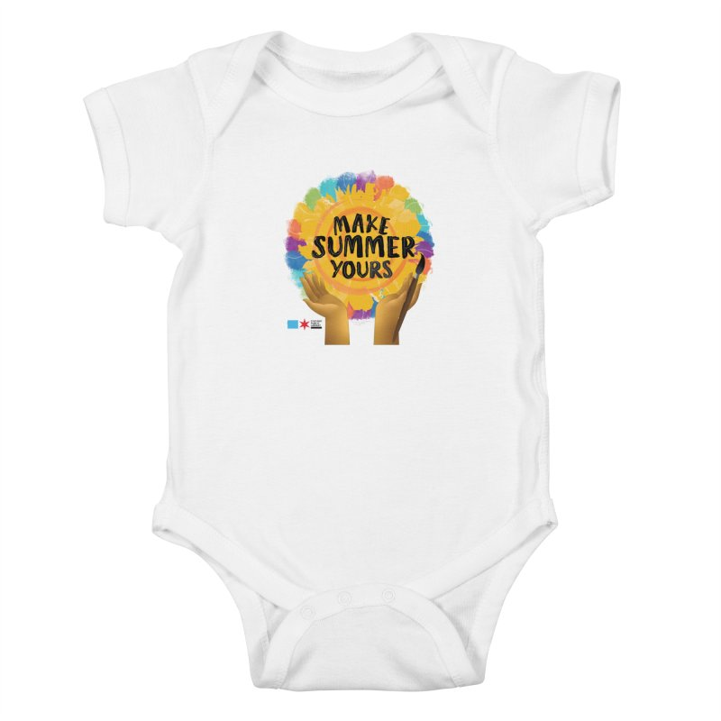 Summer 2021 - Make Summer Yours Rainbow Kids Baby Bodysuit by Chicago Public Library Artist Shop