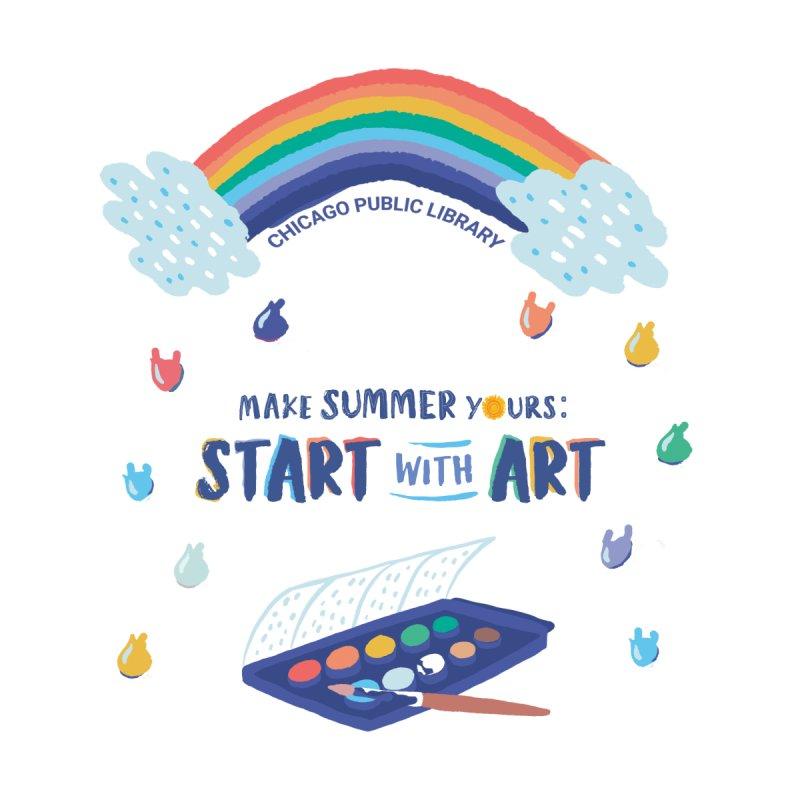 Summer 2021 - Rainbow Paint Accessories Mug by Chicago Public Library Artist Shop