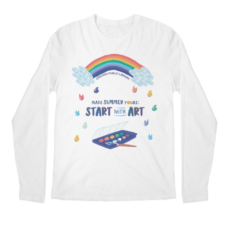 Summer 2021 - Rainbow Paint Men's Longsleeve T-Shirt by Chicago Public Library Artist Shop