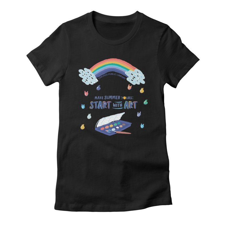 Summer 2021 - Rainbow Paint Women's T-Shirt by Chicago Public Library Artist Shop